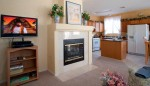 Tv with cable movies, gas fireplace very comfortable family room