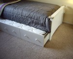 easy to pull out second twin bed from under the bed.